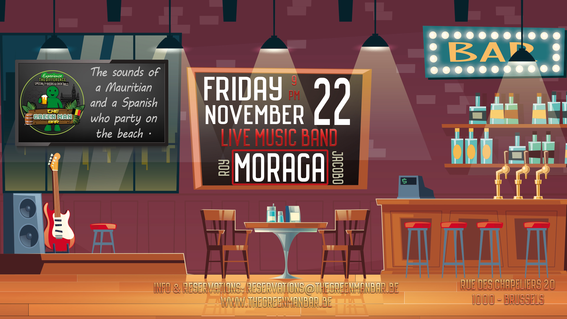 Guest Live Band: Moraga – Friday 22 november