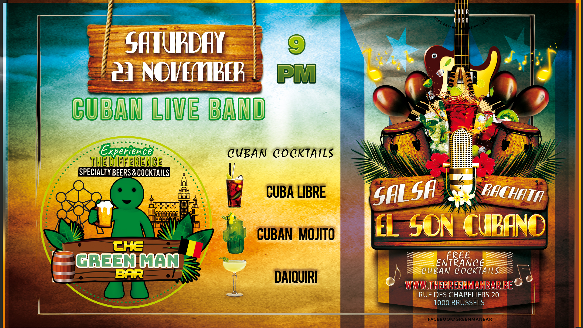 El Son Cubano – Cuban Live Music night – Saturday 23 november PM