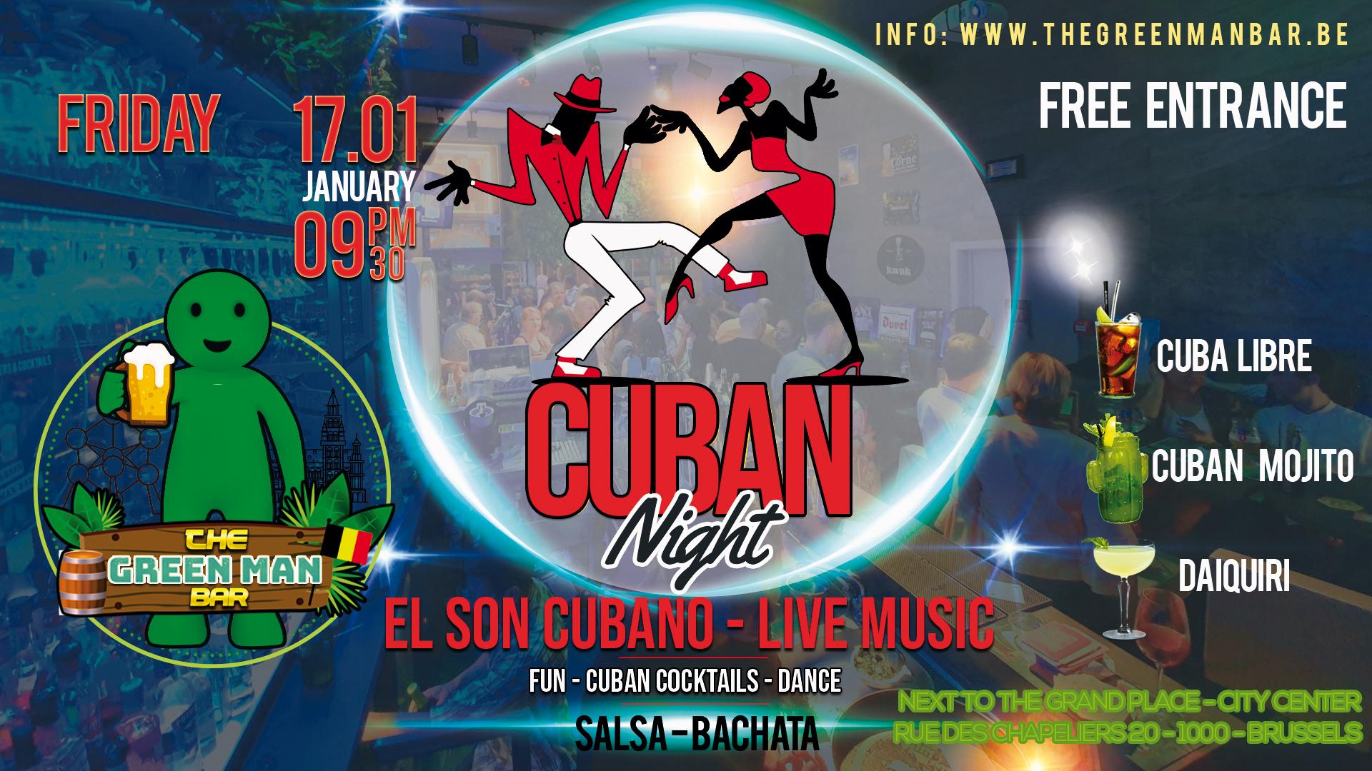 El Son Cubano – Cuban Live Music – Friday 17 January – 9PM