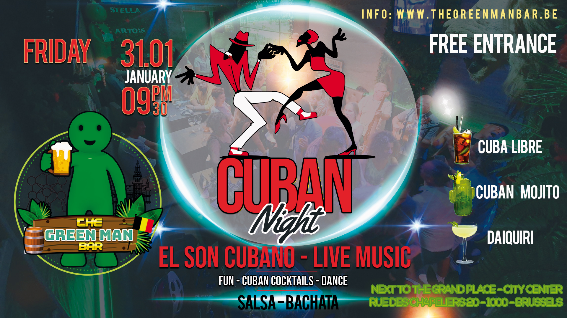 El Son Cubano – Cuban Live Music – Friday 31 January 9.30 PM