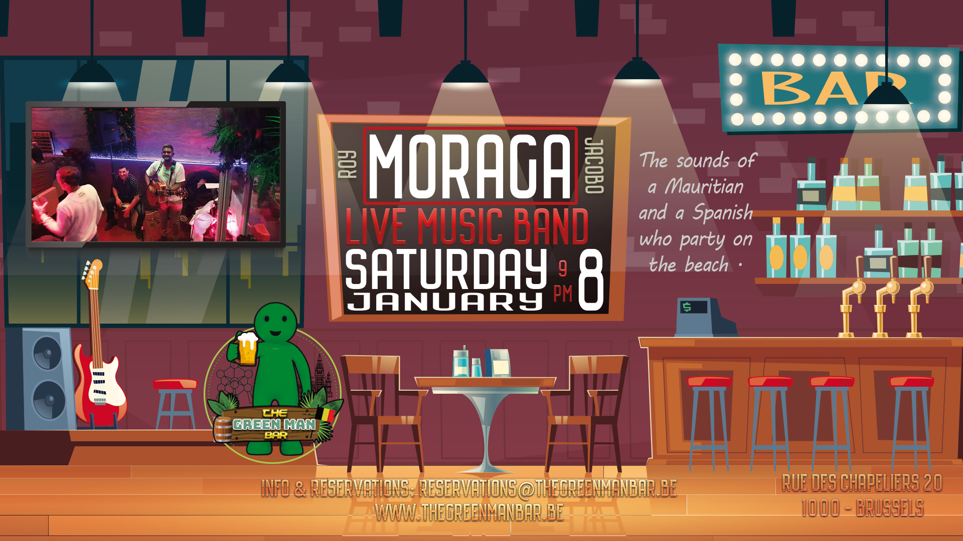 Guest Live Band: Moraga Free entry