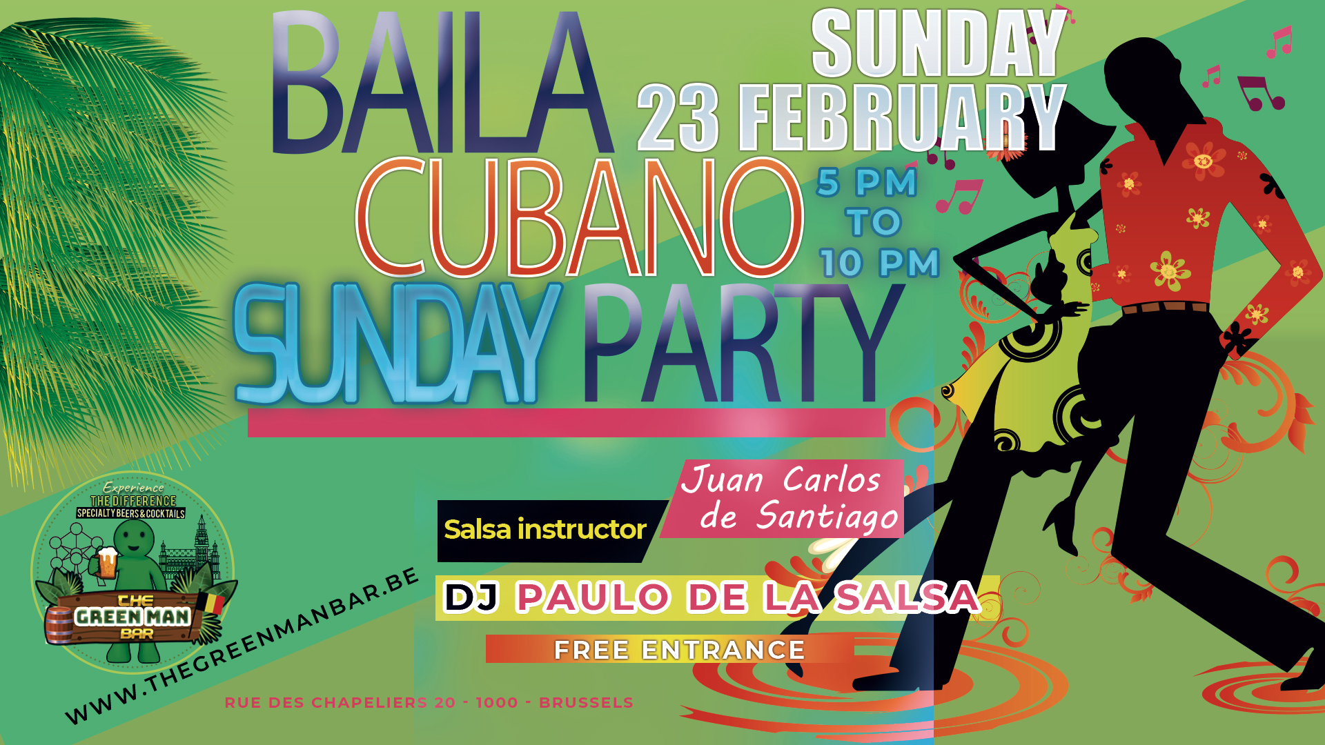 Baila Cubano Sunday with Dj Paulo De La Salsa Free entrance